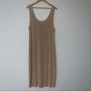 Onyx Nite Vintage by Wendye Chaitin Nude Dress.